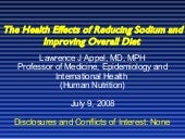 The Health Effects of Reducing Sodi...