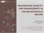 Freshwater Scarcity and Management ...