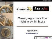 Managing errors the right way in Scala