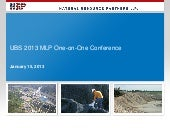 Natural Resource Partners UBS 2013 MLP Conference