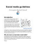 Social media guidelines - Norwegian Seafood Council - 2012