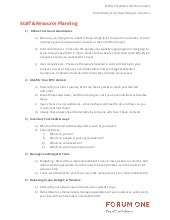 Staff Resource Planning - 1 pager