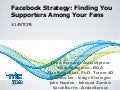 Facebook Strategies: Finding Your Supporters Among Your Fans