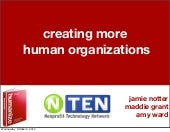 Creating More Human Organizations--...