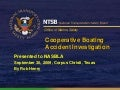 NTSB Cooperative Boating Accident Investigation