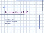 Introduction à PHP