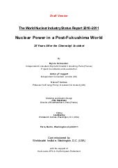 The world nuclear industry status r...