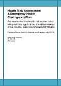 Health Emergency Assessment Report
