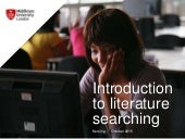 BSc Nursing Introduction to literature searching 2015