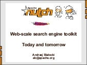 Nutch - web-scale search engine toolkit