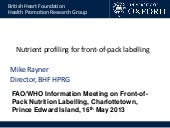 Nutrient Profiling for FOP Labelling_2013