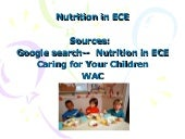 Nutrition in ECE - caring for your ...