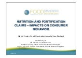 Nutrition and Fortification Claims - Impacts on Consumer Behaviour FSANZ_2015