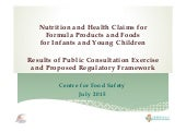 Nutrition & Health Claims for Formula Products & Foods for Infants & Young Children_2015