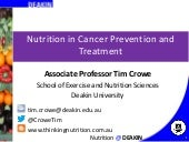 Nutrition in Cancer Prevention and ...