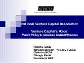 The Role of Venture Capital in the ...