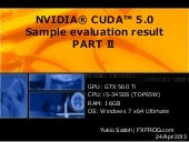 Nvidia® cuda™ 5 sample evaluationre...