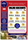 Online Discounts for tours departing from North West