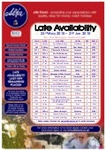 Alfa Travel Late Availability departures from North West - 23rd May 2010 – 21st  Jun 2010
