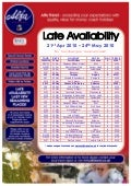 Alfa Travel Late Availability departures from North West - 21st Apr 2010 – 24th May 2010