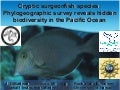 Hidden in plain view: A genetic survey reveals high                   connectivity and a cryptic endemic surgeonfish species in the Hawaiian Archipelago