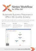 Nintex Workflow for Microsoft Office 365 - From Atidan