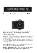Samsung's New Compact DSLR NX10 Review