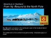 Adventure in Svalbard: from Ny-Ales...