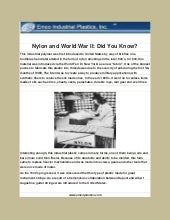 Nylon and World War II, Did you know?