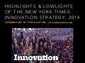 NY Times Innovation report highlights and lowlights