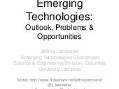 Emerging Technologies: Outlooks, Pr...