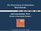 Bankole (Guttmacher) - Unsafe Abortion