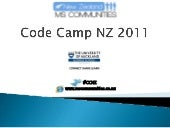 NZ Code Camp 2011 PowerShell + Shar...
