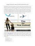 Immigration Overseas Offering Affluent New zealand Visa Policies