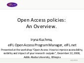 Open Access policies: An Overview