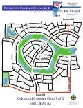Sun Lakes Arizona - Community Maps 1 of 6