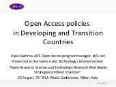 Open Access policies  in Developing...