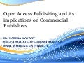 Open Access and its implications on commercial publishers