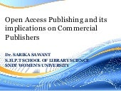 Open Access and its implications on...
