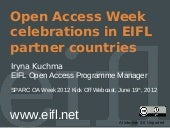 Open Access Week celebrations in EI...
