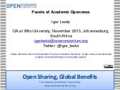 Facets of Academic Openness