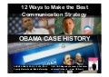 Obama Social Media Marketing & Web Communication Strategy