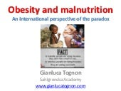 Obesity and malnutrition an international perspective of the paradox