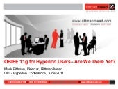 OBIEE 11g for Hyperion Users - Are ...