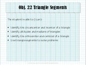 Obj. 22 Triangle Segments
