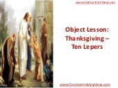 Object Lesson: Thanksgiving – Ten L...