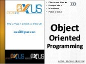 Everything about Object Oriented Pr...