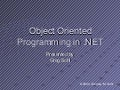 Object Oriented Programming In .Net