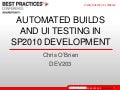 Automated Builds And UI Testing in SharePoint 2010 Development