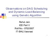 Observations on dag scheduling and ...